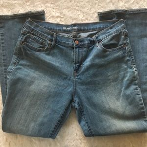 old navy / curvy profile mid-rise blue denim jeans